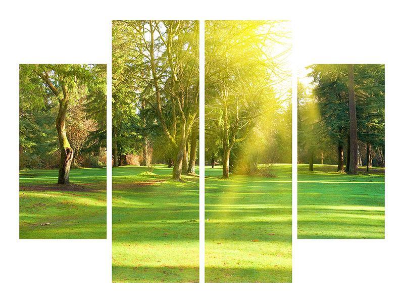 Aluminiumbild 4-teilig Im Park