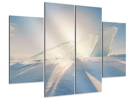 Aluminiumbild 4-teilig Eislandschaft