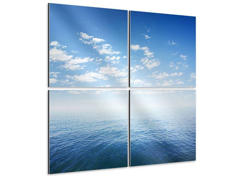 Aluminiumbild 4-teilig Unendlichkeit Meer