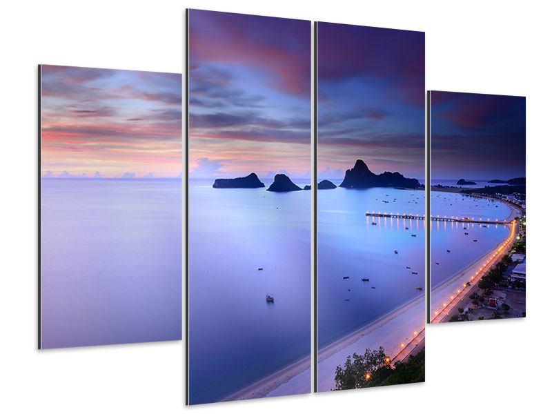 Aluminiumbild 4-teilig Ano Manao Bucht