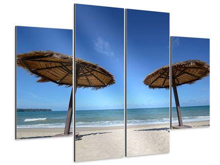 Aluminiumbild 4-teilig Umbrellas