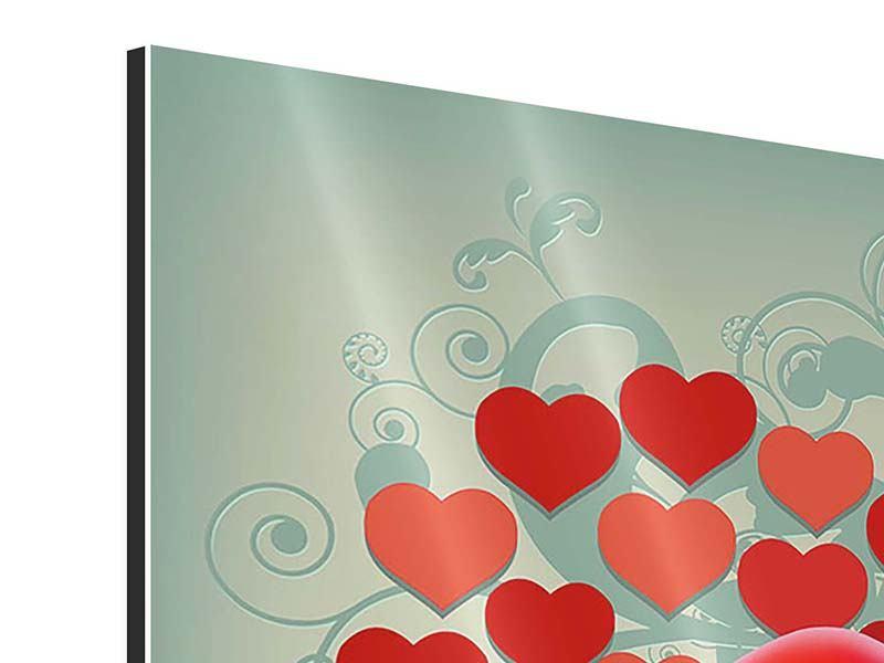 Aluminiumbild 4-teilig Rote Lippen soll man küssen