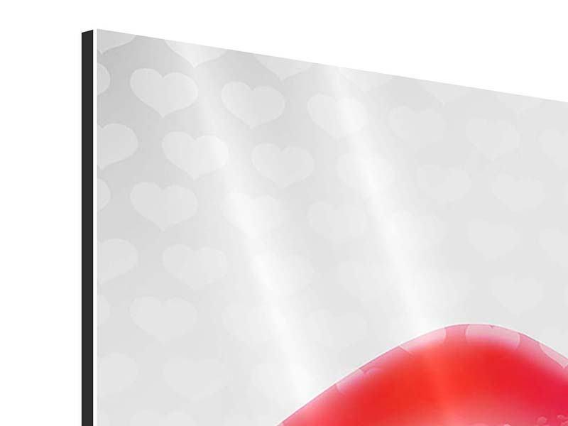 Aluminiumbild 4-teilig Kuss