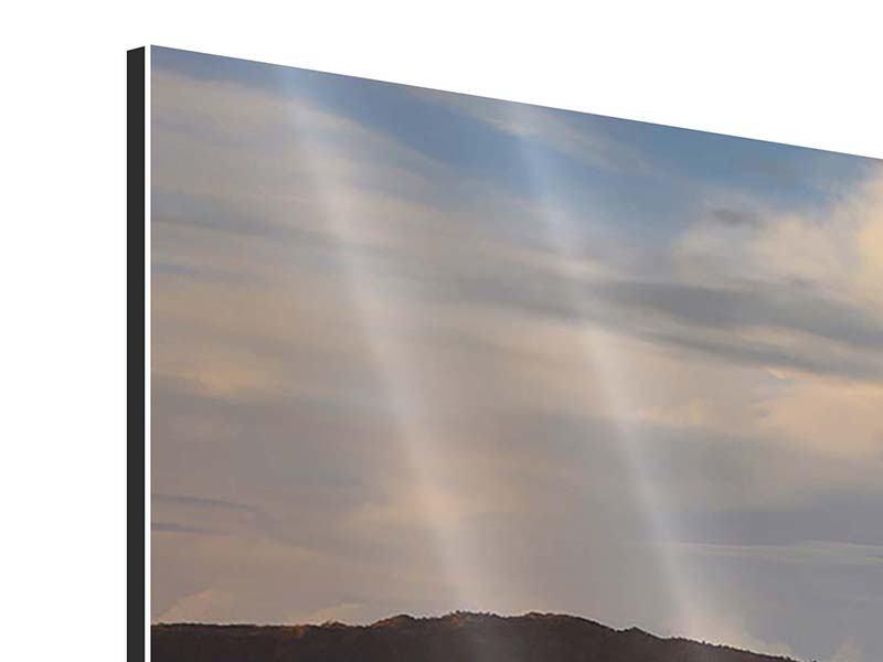 Aluminiumbild 4-teilig Der Bromo Vulkan