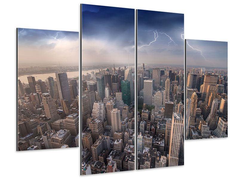 Aluminiumbild 4-teilig Manhattan