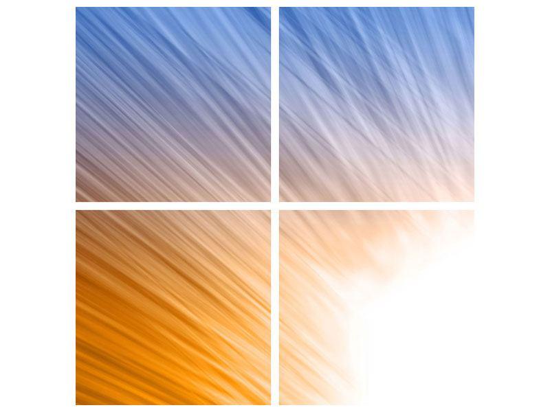 Aluminiumbild 4-teilig Abstraktes Lichterspiel