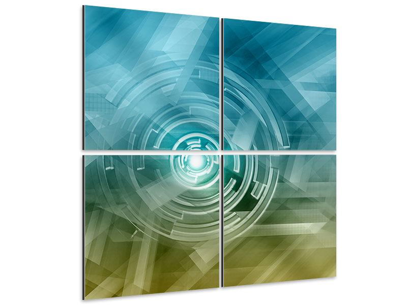 Aluminiumbild 4-teilig Future