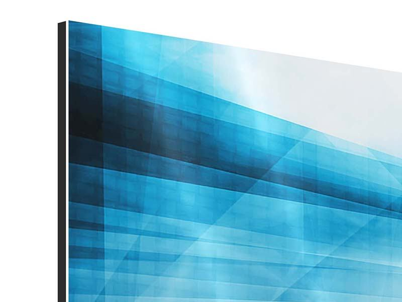 Aluminiumbild 4-teilig Abstrakte Lichtshow