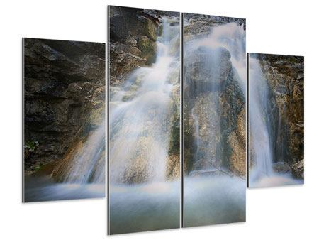 Aluminiumbild 4-teilig Imposanter Wasserfall
