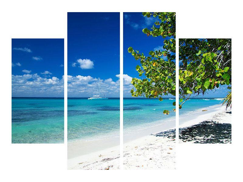 Aluminiumbild 4-teilig Happy Beach