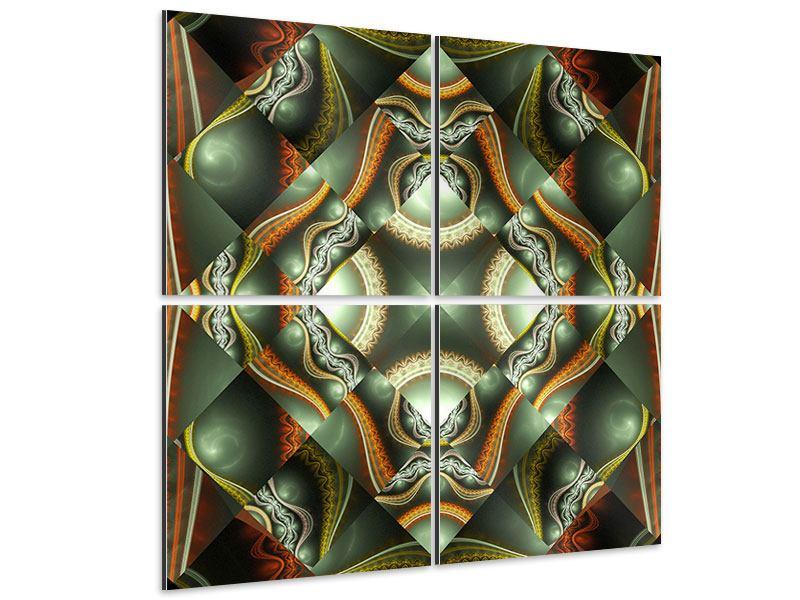 Aluminiumbild 4-teilig Fraktales Bild