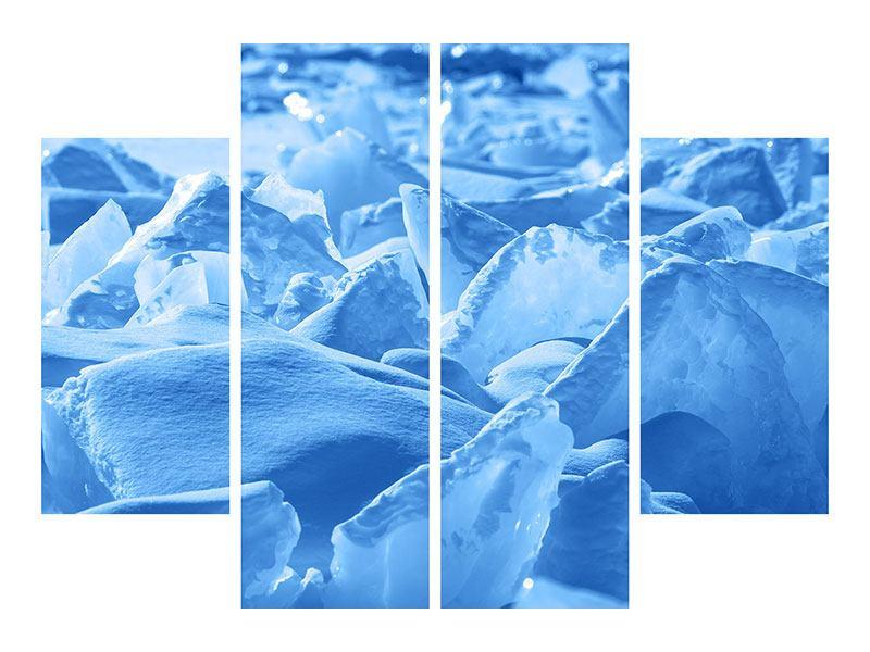 Aluminiumbild 4-teilig Eis des Baikalsees