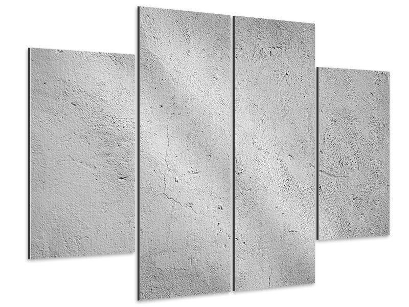 Aluminiumbild 4-teilig Beton