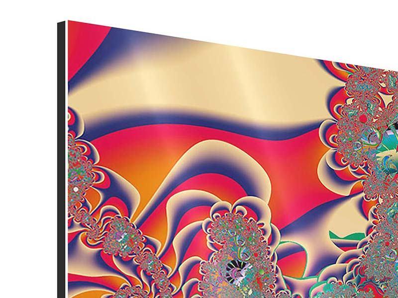Aluminiumbild 4-teilig Psychedelische Kunst