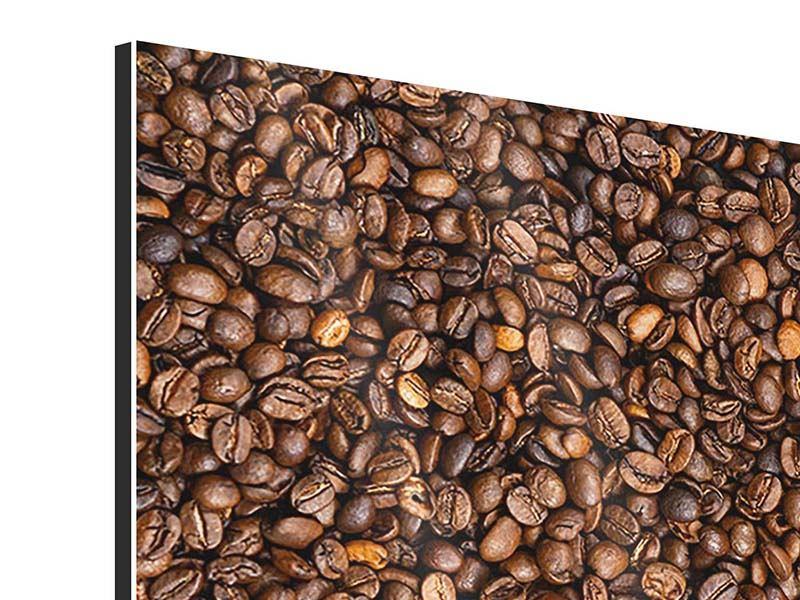 Aluminiumbild 4-teilig Kaffeebohnen