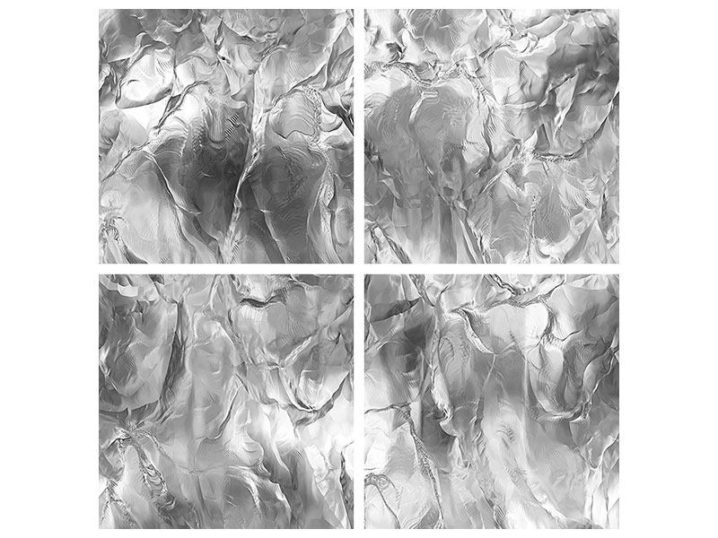 Aluminiumbild 4-teilig Eiswand