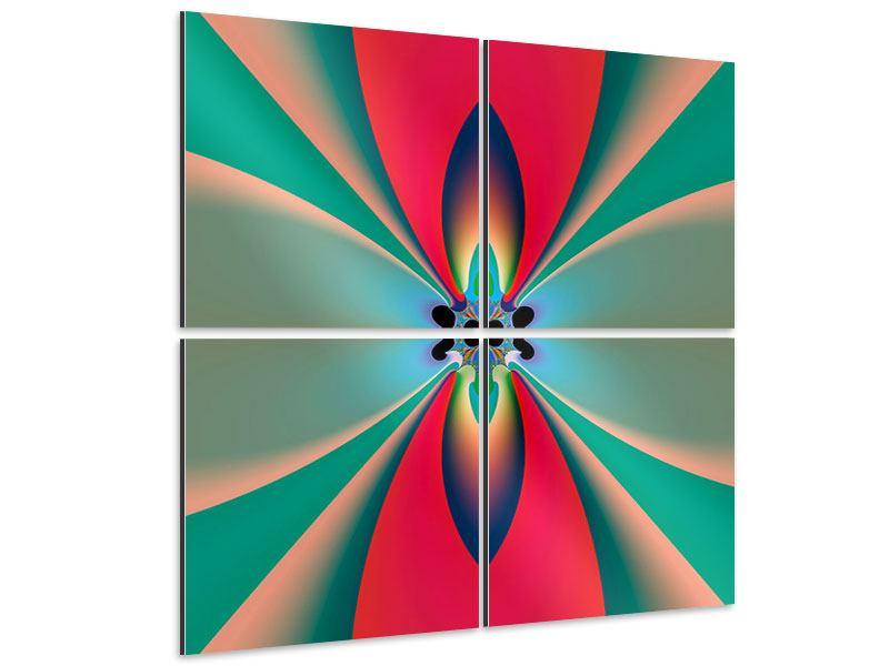 Aluminiumbild 4-teilig Psychedelic Art