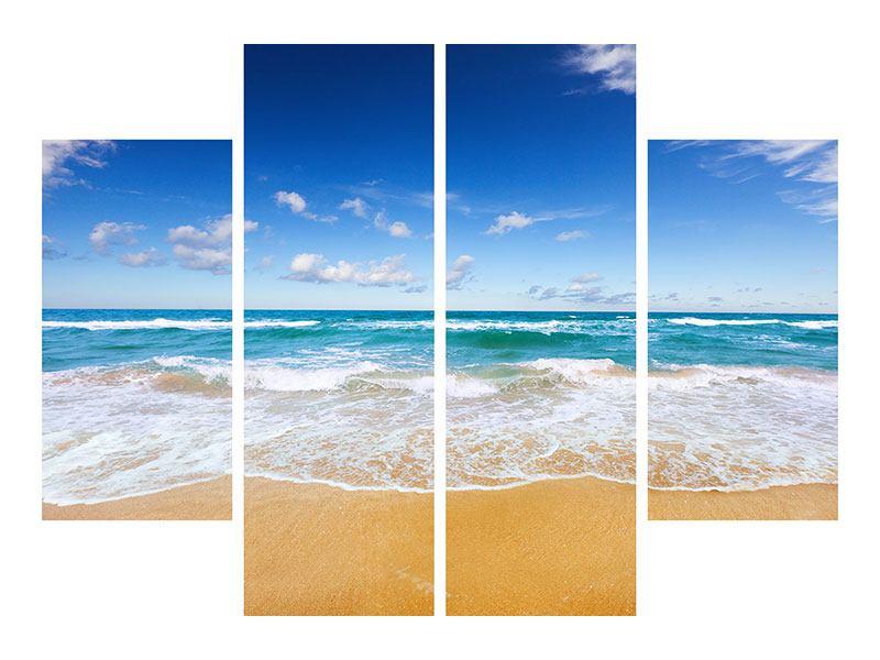 Aluminiumbild 4-teilig Die Gezeiten und das Meer
