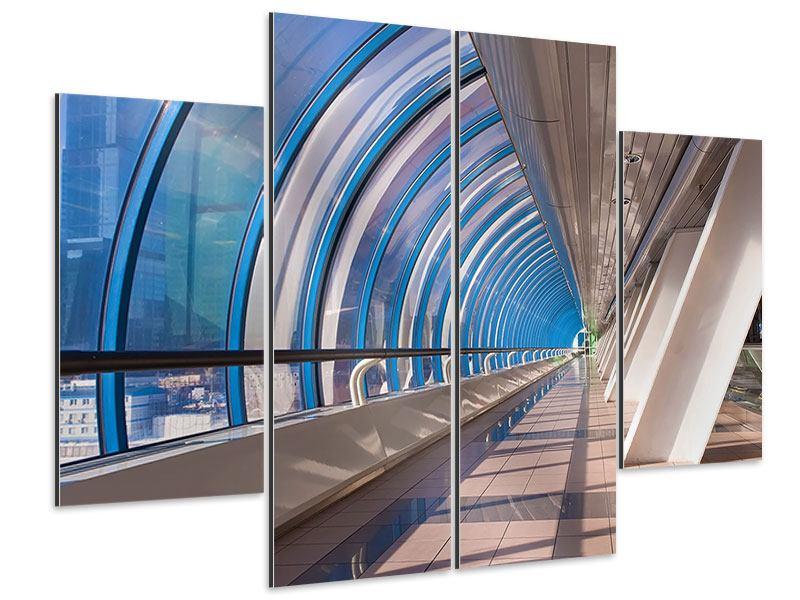 Aluminiumbild 4-teilig Hypermoderne Brücke