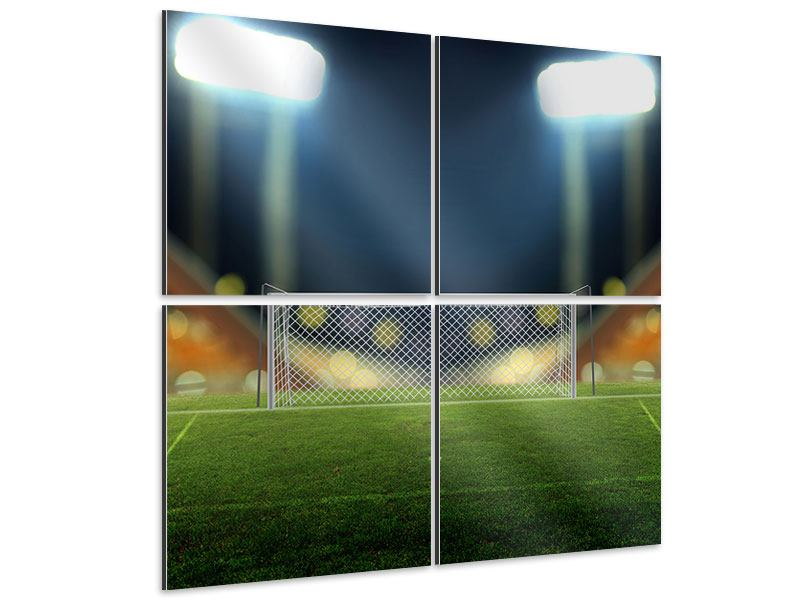 Aluminiumbild 4-teilig Fussballtor