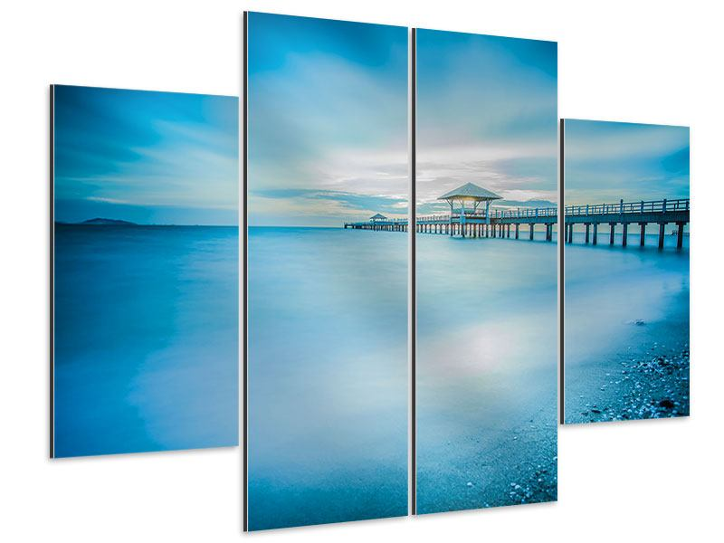 Aluminiumbild 4-teilig Brückenimpression