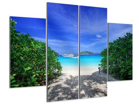 Aluminiumbild 4-teilig Similan-Inseln