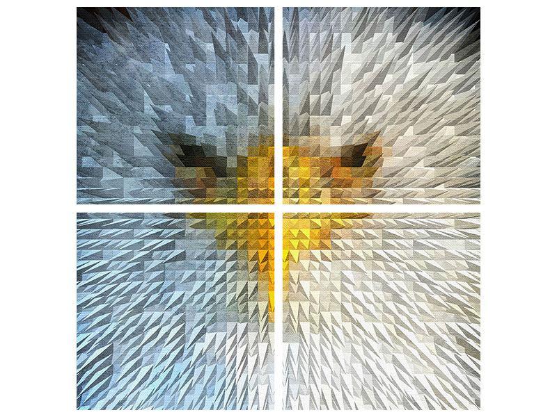 Aluminiumbild 4-teilig Adler
