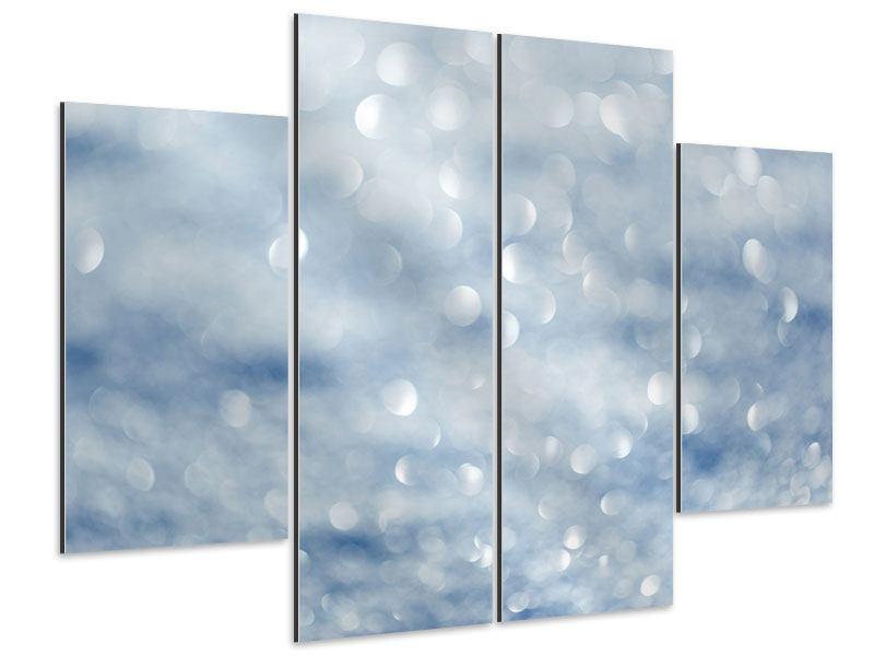 Aluminiumbild 4-teilig Kristallglanz