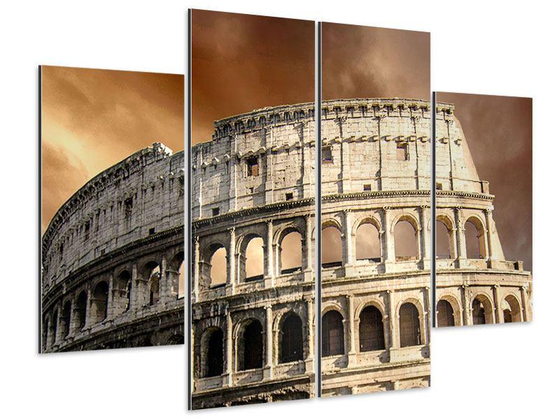 Aluminiumbild 4-teilig Kolosseum Rom