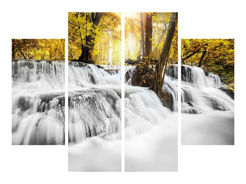 Aluminiumbild 4-teilig Wasser in Aktion