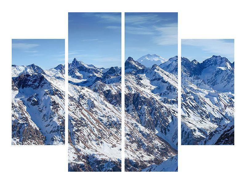 Aluminiumbild 4-teilig Gipfelspitzen