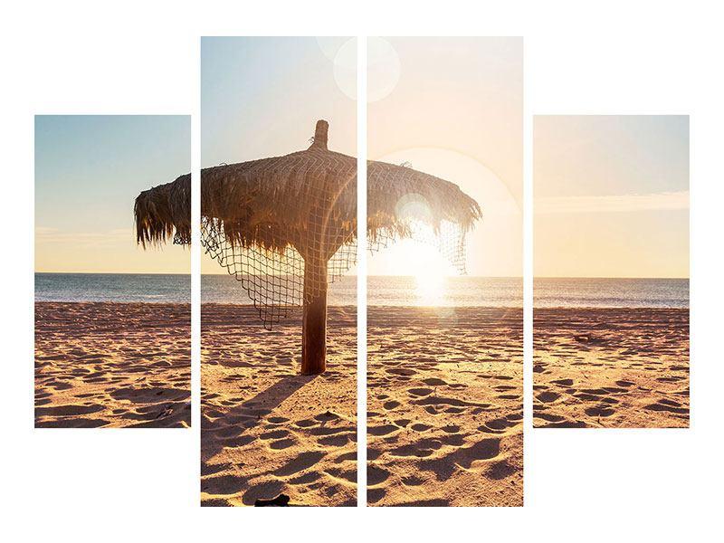 Aluminiumbild 4-teilig Der Sonnenschirm