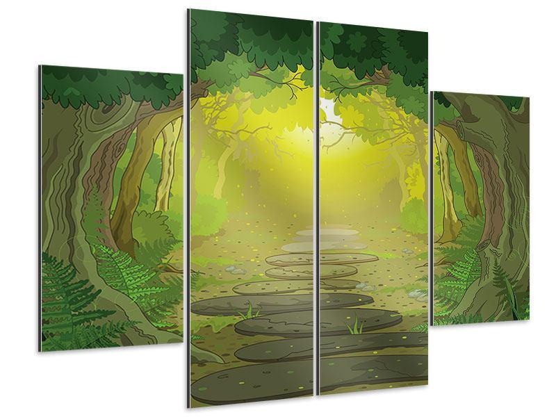 Aluminiumbild 4-teilig Der Märchenwald