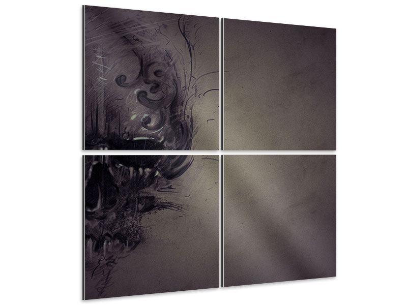 Aluminiumbild 4-teilig Fantasy