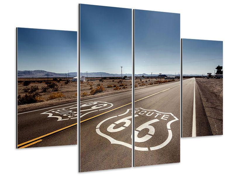 Aluminiumbild 4-teilig Route 66