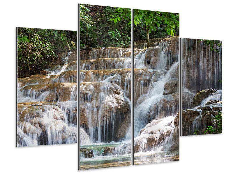 Aluminiumbild 4-teilig Mexikanischer Wasserfall