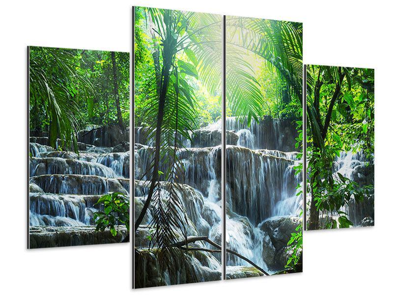 Aluminiumbild 4-teilig Wasserfall Agua Azul