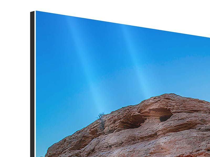 Aluminiumbild 4-teilig Sonnenuntergang am Mesa Arch