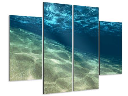 Aluminiumbild 4-teilig Unter dem Wasser