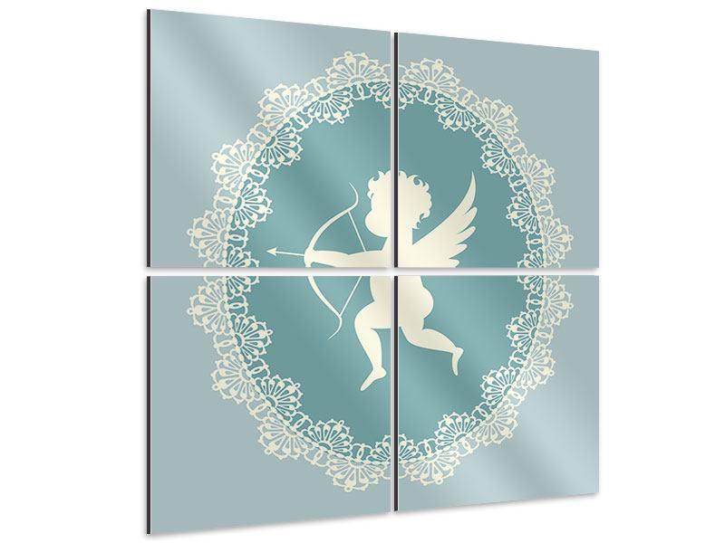 Aluminiumbild 4-teilig Engel Amore