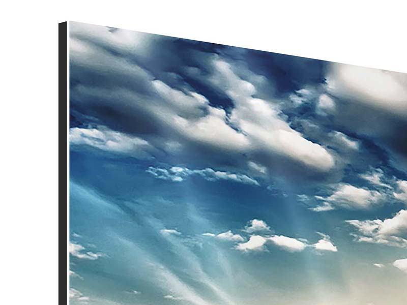 Aluminiumbild 4-teilig Skyline Über den Dächern von London