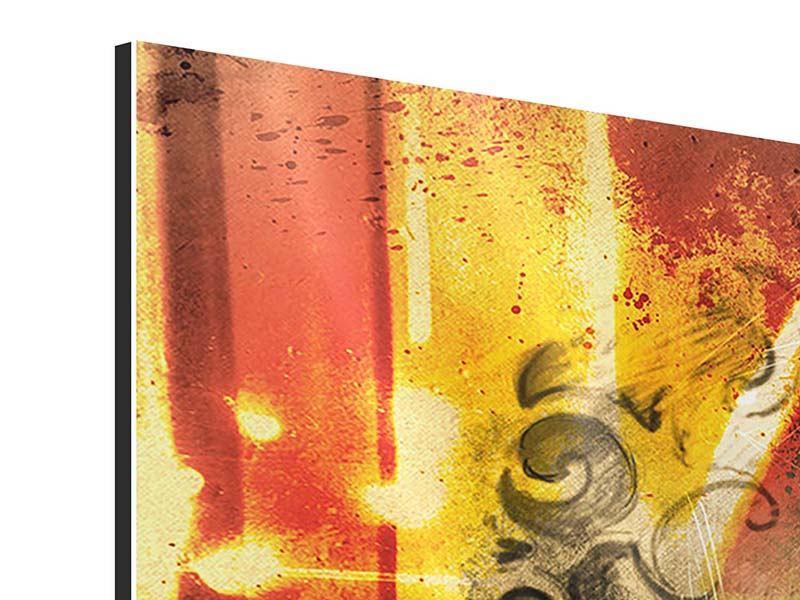 Aluminiumbild 4-teilig Kunstvoller Totenkopf