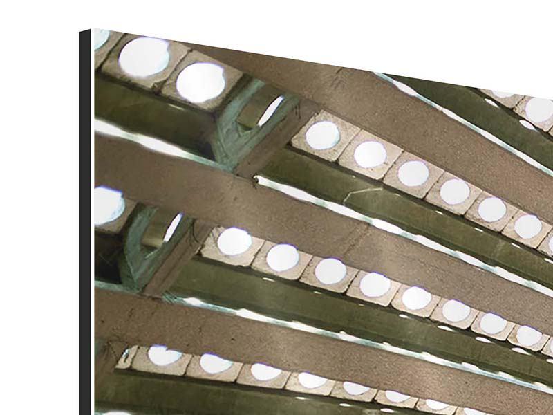 Aluminiumbild 4-teilig Abstraktes Rad