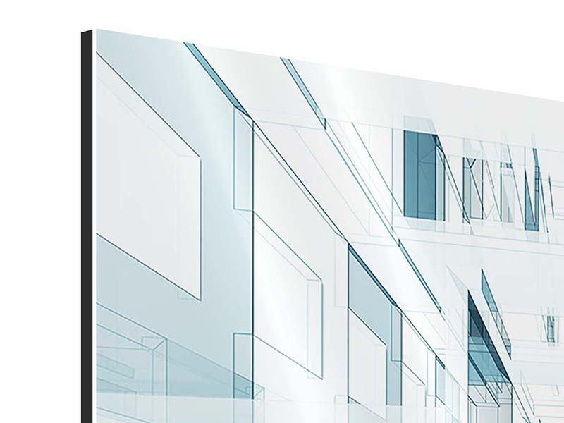 Aluminiumbild 4-teilig Raum der Räume
