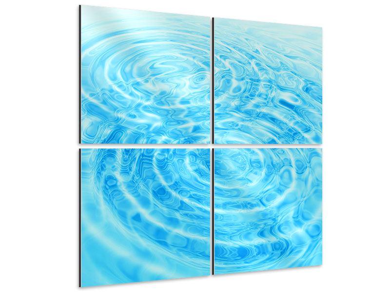 Aluminiumbild 4-teilig Abstraktes Wasserbad