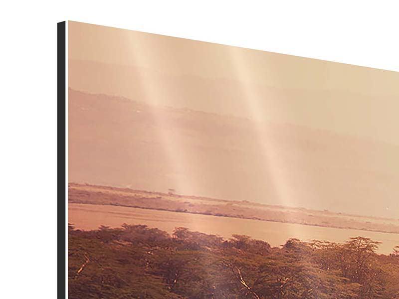 Aluminiumbild 4-teilig Malerisches Afrika