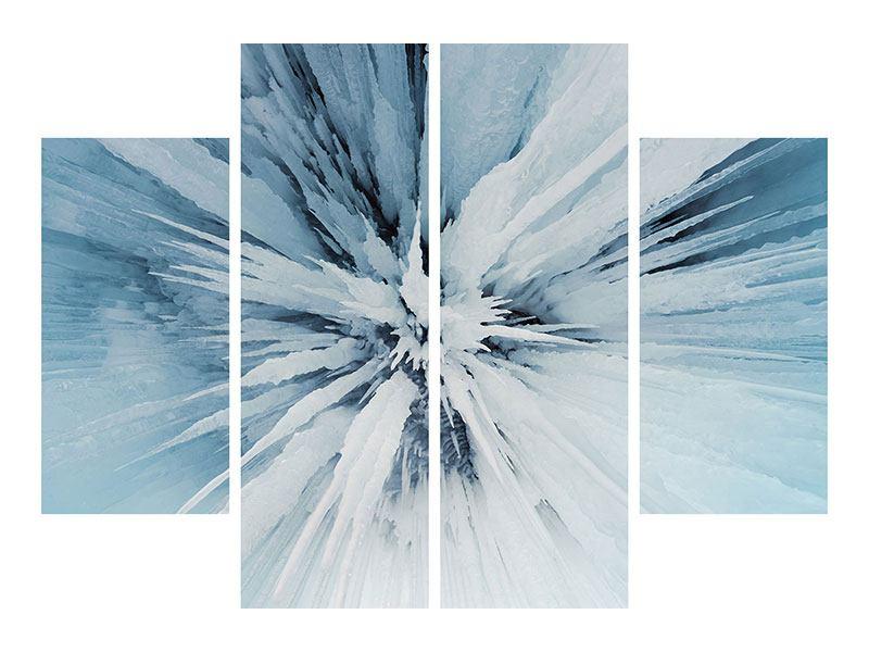 Aluminiumbild 4-teilig Eiskunst
