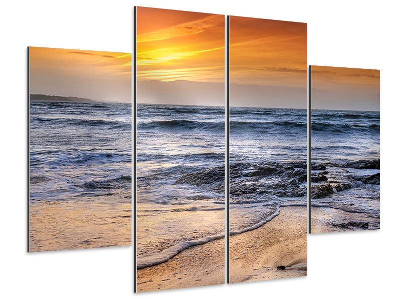 Aluminiumbild 4-teilig Das Meer