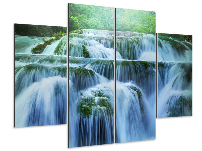 Aluminiumbild 4-teilig Gigantischer Wasserfall