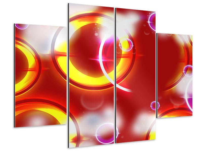 Aluminiumbild 4-teilig Abstraktes Retro